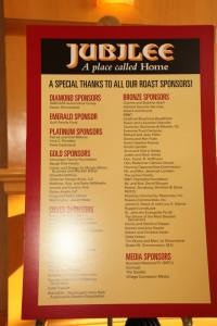 2014 Jubilee Roast Sponsors